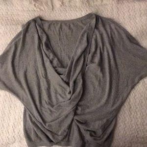 Moda International twist front crop sweater